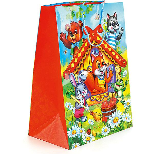 Пакет подарочный Теремок глянцевый  33Х46Х20 смНовинки для праздника<br>Характеристики товара:<br><br>• возраст: от 3 лет;<br>• упаковка: пакет;<br>• размер пакета: 33х46х20 см.;<br>• цвет: мультиколор;<br>• материал: бумага;<br>• бренд, страна-производитель: Веселый праздник, Китай.<br>                                                                                                                                                                                                                                                                                                              Подарочный пакет «Теремок» станет неотъемлемой частью детского подарка. Красочный пакет принесет ребенку радость предвкушения и ему будет интересно заглянуть в него, чтобы узнать, что же приготовили родные или друзья ему на день рождения, да и на любой другой праздник. <br><br>Такая упаковка подойдёт для большого подарка. Изделие выполненно из прочной глянцевой бумаги с красочным изображением Теремка и других героев расской народной сказки.<br><br>Подарочный пакет «Теремок», 33х46х20 см.., Веселый праздник  можно купить в нашем интернет-магазине.<br><br>Ширина мм: 33<br>Глубина мм: 20<br>Высота мм: 46<br>Вес г: 150<br>Возраст от месяцев: 36<br>Возраст до месяцев: 168<br>Пол: Унисекс<br>Возраст: Детский<br>SKU: 7225708