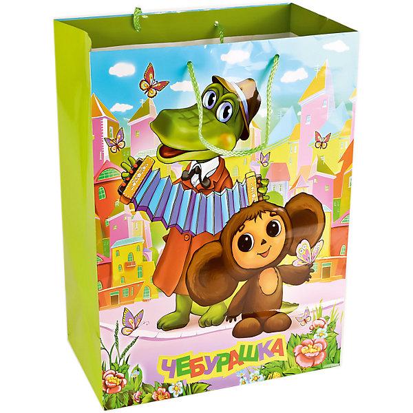 Пакет бумажный дизайн Чебурашка р-р 33Х46Х20 смНовинки для праздника<br>Подарочный пакет Чебурашка станет неотъемлемой частью детского подарка. Красочный пакет принесет ребенку радость предвкушения и ему будет интересно заглянуть в него, чтобы узнать, что же приготовили родные или друзья ему на день рождения, да и на любой другой праздник. Такая упаковка подойдёт для большого подарка. Размер пакета 33х46х20 см.<br><br>Ширина мм: 33<br>Глубина мм: 20<br>Высота мм: 46<br>Вес г: 150<br>Возраст от месяцев: 36<br>Возраст до месяцев: 168<br>Пол: Унисекс<br>Возраст: Детский<br>SKU: 7225713