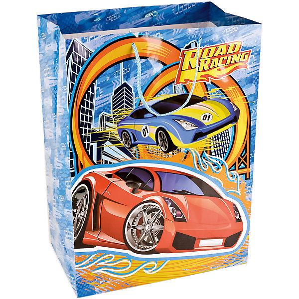 Пакет подарочный  ROAD RACING  33Х46Х20 см  глянцевыйДетские подарочные пакеты<br>Характеристики товара:<br><br>• возраст: от 3 лет;<br>• упаковка: пакет;<br>• размер пакета: 33х46х20 см.;<br>• цвет: мультиколор;<br>• материал: бумага;<br>• бренд, страна-производитель: Веселый праздник, Китай.<br>                                                                                                                                                                                                                                                                                                              Подарочный пакет «ROAD RACING» станет неотъемлемой частью детского подарка. Красочный пакет принесет ребенку радость предвкушения и ему будет интересно заглянуть в него, чтобы узнать, что же приготовили родные или друзья ему на день рождения, да и на любой другой праздник. <br><br>Такая упаковка подойдёт для большого подарка. Изделие выполненно из прочной глянцевой бумаги с красочным изображением гоночных машин.<br><br>Подарочный пакет «ROAD RACING», 33х46х20 см., Веселый праздник  можно купить в нашем интернет-магазине.<br><br>Ширина мм: 34<br>Глубина мм: 8<br>Высота мм: 47<br>Вес г: 150<br>Возраст от месяцев: 36<br>Возраст до месяцев: 168<br>Пол: Унисекс<br>Возраст: Детский<br>SKU: 7225718