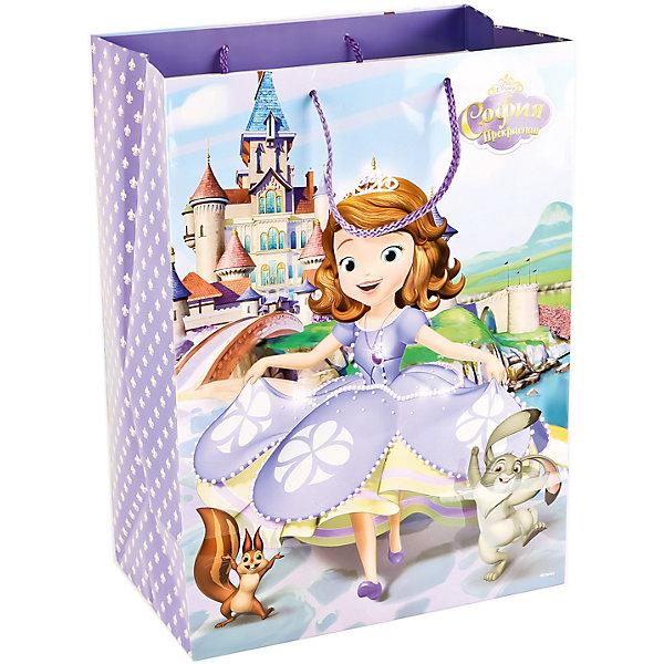 Пакет подарочный   Принцесса София  33Х46Х20 см бумажный глянцевыйДетские подарочные пакеты<br>Характеристики товара:<br><br>• возраст: от 3 лет;<br>• упаковка: пакет;<br>• размер пакета: 33х46х20 см.;<br>• цвет: мультиколор;<br>• материал: бумага;<br>• бренд, страна-производитель: Веселый праздник, Китай.<br>                                                                                                                                                                                                                                                                                                              Подарочный пакет «Принцесса София» станет неотъемлемой частью детского подарка. Красочный пакет принесет ребенку радость предвкушения и ему будет интересно заглянуть в него, чтобы узнать, что же приготовили родные или друзья ему на день рождения, да и на любой другой праздник. <br><br>Такая упаковка подойдёт для большого подарка. Изделие выполненно из прочной глянцевой бумаги с красочным изображением персонажей из одноименного мультфильма.<br><br>Подарочный пакет «Принцесса София», 33х46х20 см.., Веселый праздник  можно купить в нашем интернет-магазине.<br><br>Ширина мм: 33<br>Глубина мм: 7<br>Высота мм: 46<br>Вес г: 150<br>Возраст от месяцев: 36<br>Возраст до месяцев: 168<br>Пол: Унисекс<br>Возраст: Детский<br>SKU: 7225721