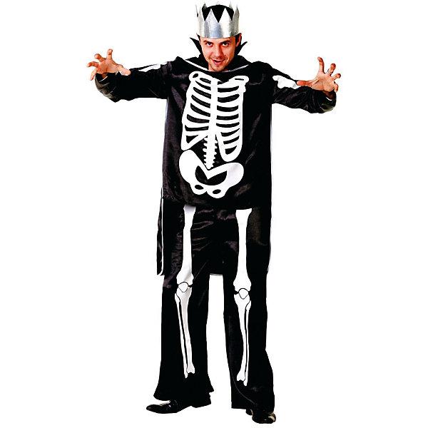 6008 Карнавальный костюм Кащей Бессмертный (д/взр) р.50Новинки для праздника<br>Полиэстр 100% Карнавальный костюм (куртка, плащ, корона)<br><br>Ширина мм: 450<br>Глубина мм: 80<br>Высота мм: 350<br>Вес г: 300<br>Возраст от месяцев: 192<br>Возраст до месяцев: 2147483647<br>Пол: Мужской<br>Возраст: Детский<br>SKU: 7226780