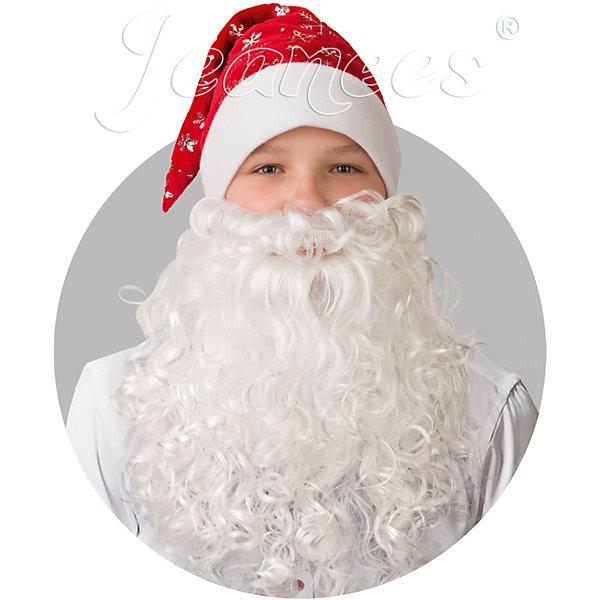 103-6 Колпак Новогодний красный с бородой, плюш со снежинкамиНовинки Новый Год<br>Полиэстр 100% Колпак<br>Ширина мм: 450; Глубина мм: 80; Высота мм: 350; Вес г: 300; Возраст от месяцев: 192; Возраст до месяцев: 2147483647; Пол: Мужской; Возраст: Детский; SKU: 7226784;