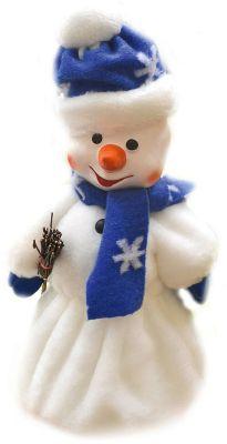 Батик Кукла Снеговик с метлой под елку, 40 см (с ёмкостью для конфет)