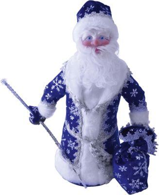 Батик Дед Мороз под елку 40 см СИНИЙ в упаковке