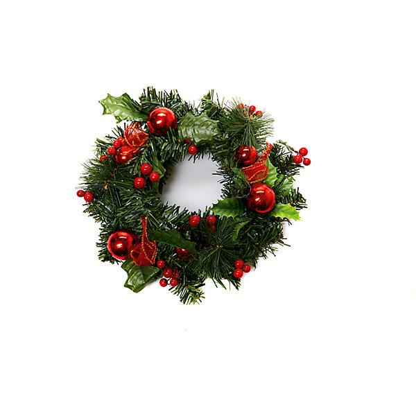Новогоднее украшение - венок на стену, диаметр 25 см, в полибегеНовинки Новый Год<br>Новогоднее украшение - венок на стену, диаметр 25 см, в полибеге<br>Ширина мм: 250; Глубина мм: 250; Высота мм: 60; Вес г: 54; Возраст от месяцев: 36; Возраст до месяцев: 2147483647; Пол: Унисекс; Возраст: Детский; SKU: 7227785;