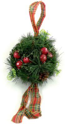 MAG2000 Новогоднее украшение - хвойный шарик с шишками , диаметр 20 см, в полибеге