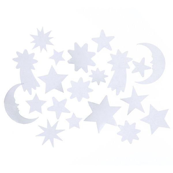 Лист с декоративными новогодними наклейкамиНовогодние наклейки на окна<br>Лист с светящимися декоративными новогодними наклейками на окна, стены, из пвх и бумаги, 20 шт,  15*10 см, в ассортименте, для использования внутри помещения, в полибеге с картонкой<br>Ширина мм: 6; Глубина мм: 100; Высота мм: 150; Вес г: 13; Возраст от месяцев: 36; Возраст до месяцев: 2147483647; Пол: Унисекс; Возраст: Детский; SKU: 7227815;
