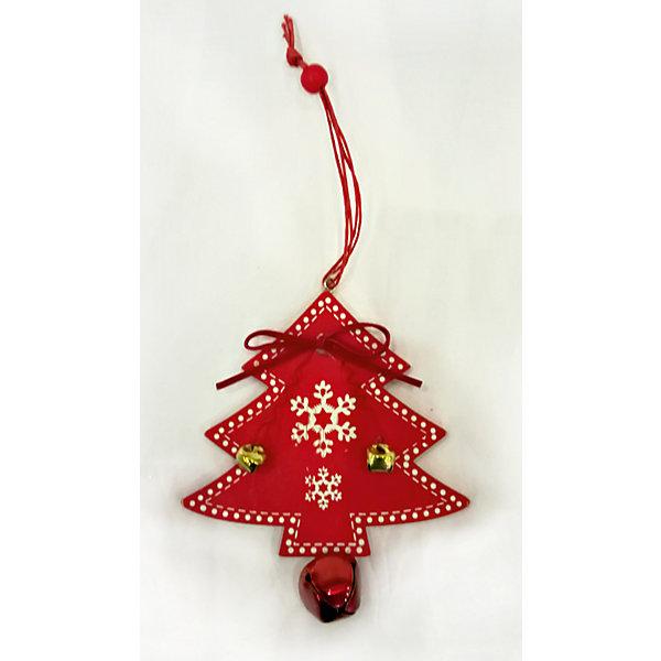 Новогодняя ёлочное украшение из дерева, ёлочка, в полибеге с картонкой