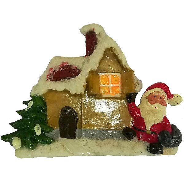 2 Дед мороза, Домик 12,6*11,8*2,5 см, 3 в ассорт