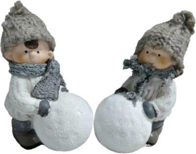 Mag2000 Новогоднее Украшение - Мальчик/девочка С Снежным Шаром, 16*10*6 См, 2 В Ассортименте