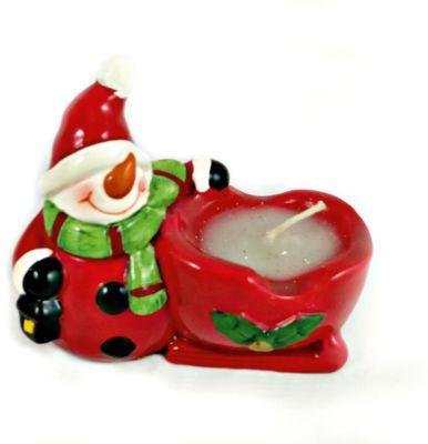 Mag2000 Дед Мороз И Снеговик-Подсвечник Со Свечей, 8.2 X 4.5 X 7.7 См, В Ассортименте