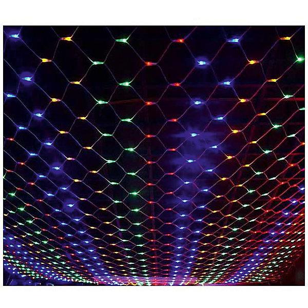Светодиодная гирлянда-сетка, разноцветная, 320Л-220V, размер: 2,4*1,6м, внутренняяНовогодние электрогирлянды<br>Характеристики:<br><br>• возраст: от 3 лет<br>• количество лампочек: 320 шт.<br>• размер гирлянды-сетки: 2,4х1,6 м.<br>• напряжение: 220 В.<br><br>Светодиодная гирлянда-сетка - одно из самых эффектных украшений интерьера. Она необыкновенно красиво смотрится на фоне окна, развешенная вдоль стены или параллельно потолку. Гирлянда позволяет осуществить равномерную засветку по всей площади.<br><br>Благодаря маленьким размерам лампочек, в выключенном состоянии гирлянда практически не видна, а при включении светит очень ярко.<br><br>Светодиодную гирлянду-сетку, разноцветную, 320Л-220V, размер: 2,4*1,6м, внутреннюю можно купить в нашем интернет-магазине.<br>Ширина мм: 90; Глубина мм: 175; Высота мм: 105; Вес г: 458; Возраст от месяцев: 36; Возраст до месяцев: 2147483647; Пол: Унисекс; Возраст: Детский; SKU: 7227963;