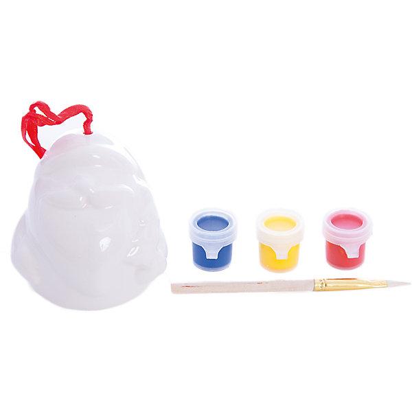 Набор для детского творчества, керамикаНаборы для раскрашивания<br>Набор для детского творчества, керамика, дед мороз 7*5,6*7 см- колокольчик 6 см, 3 краски, в синей коробке 16*18*6, см<br>Ширина мм: 60; Глубина мм: 160; Высота мм: 180; Вес г: 123; Возраст от месяцев: 36; Возраст до месяцев: 2147483647; Пол: Унисекс; Возраст: Детский; SKU: 7227975;