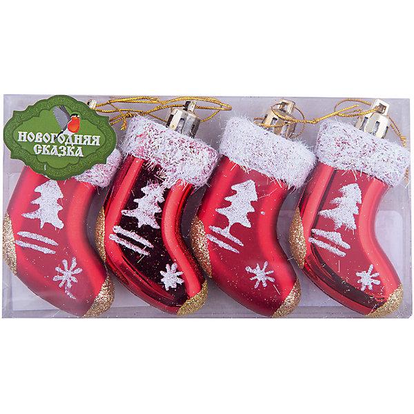 Ел.укр. Подарочный носочек 4 шт., 6 см, в ассорт.Ёлочные игрушки<br>Декоративные елочные игрушки очень популярны! Ими украшают елку или дарят в качестве новогоднего сувенира. Елочное украшение «Подарочный носочек» представлено в ассортименте. <br> В наборе – 4 шт. <br> Размер игрушки – 6 см . Материал - пластик.<br>Ширина мм: 145; Глубина мм: 20; Высота мм: 80; Вес г: 40; Возраст от месяцев: 36; Возраст до месяцев: 2147483647; Пол: Унисекс; Возраст: Детский; SKU: 7228393;