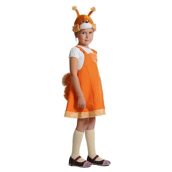 Костюм Белочка, ткань-плюш, рост 92-122 смКарнавальные костюмы для девочек<br>Характеристики:<br><br>• возраст: 3+;<br>• материал: ткань, плюш, искусственный мех;<br>• рост ребенка: 92-122 см;<br>• комплект: костюм, маска-шапочка;<br>• масса: 360 г.<br><br>Детский сказочный костюм Белочки подойдет для театральных спектаклей, карнавального вечера или новогоднего праздника. В комплект входит оранжевый сарафан на лямках с пушистым хвостом, а также забавная шапочка-маска в виде мордочки белочки. <br><br>Красивая модель костюма аккуратно пошита из качественного плюша. Маска детально проработана, благодаря чему выглядит очень реалистично.<br><br>Ребенок с удовольствием будет носить костюм несколько сезонов.<br><br>Костюм «Белочка», ткань-плюш, рост 92-122 см, «Карнавалофф» можно купить в нашем интернет-магазине.<br><br>Ширина мм: 270<br>Глубина мм: 70<br>Высота мм: 300<br>Вес г: 360<br>Возраст от месяцев: 36<br>Возраст до месяцев: 60<br>Пол: Женский<br>Возраст: Детский<br>SKU: 7228423