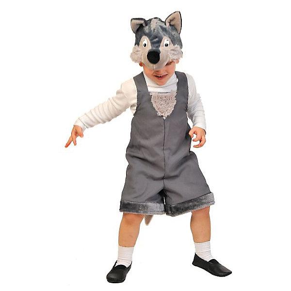 Костюм Волчонок, ткань-плюш, рост 92-122 смКарнавальные костюмы для мальчиков<br>Злой и страшный серый волк будет выглядеть милым и обаятельным в исполнении вашего малыша. Забавная маска дополняет весёлый и добродушный образ сказочного персонажа - героя русского фольклора.<br>Ширина мм: 270; Глубина мм: 70; Высота мм: 300; Вес г: 360; Возраст от месяцев: 36; Возраст до месяцев: 60; Пол: Мужской; Возраст: Детский; SKU: 7228424;