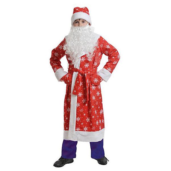 Костюм Дед мороз детский, ткань-плюш, красный р-р МКостюмы Деда Мороза<br>Характеристики:<br><br>• размер: М (52-54);<br>• материал: текстиль, плюш;<br>• рост ребенка: 164 см;<br>• комплект: костюм, аксессуары;<br>• масса: 770 г.<br><br>Сказочный костюм Деда Мороза подойдет для театральных спектаклей, карнавального вечера или новогоднего праздника. В комплект входят теплая шуба с красивым узором, густая белая борода, пояс, а также теплые варежки.<br><br>Красивая модель костюма аккуратно пошита и детально проработана, благодаря чему выглядит очень реалистично.<br><br>Костюм «Дед Мороз детский», ткань-плюш, красный, размер «М», «Карнавалофф» можно купить в нашем интернет-магазине.<br><br>Ширина мм: 340<br>Глубина мм: 140<br>Высота мм: 460<br>Вес г: 770<br>Возраст от месяцев: 84<br>Возраст до месяцев: 108<br>Пол: Мужской<br>Возраст: Детский<br>SKU: 7228425