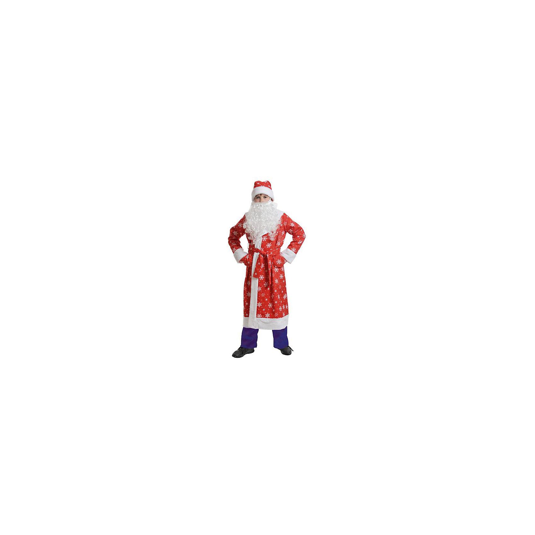 Костюм Дед мороз детский, ткань-плюш, красный р-р М от myToys
