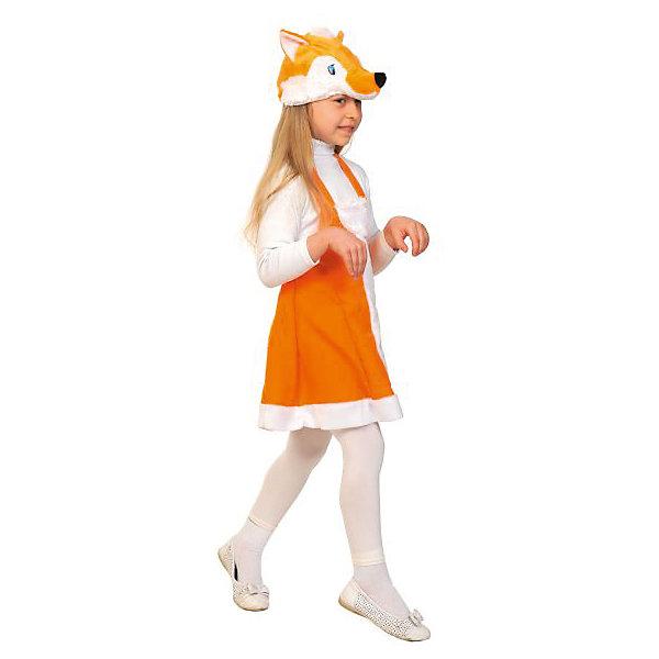 Костюм Лисичка, ткань-плюш, рост 92-122 смКарнавальные костюмы для девочек<br>Лисички любимы всеми от мала до велика, ведь они умны, хитры и красивы. Ваша девочка будет рада превратиться на один вечер в очаровательную лисоньку, которая поразит всех присутствующих своим ярким нарядом.<br><br>Ширина мм: 270<br>Глубина мм: 50<br>Высота мм: 300<br>Вес г: 360<br>Возраст от месяцев: 36<br>Возраст до месяцев: 60<br>Пол: Женский<br>Возраст: Детский<br>SKU: 7228429
