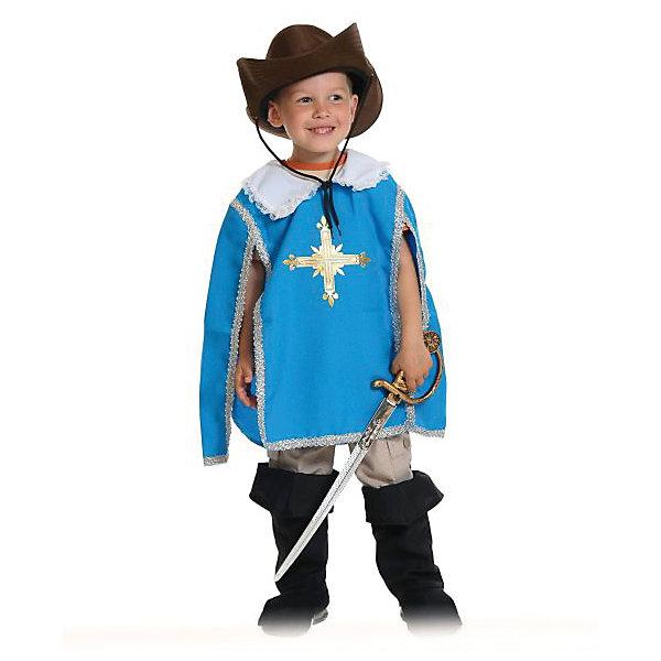 Костюм Мушкетер, синий, рост 116-128Карнавальные костюмы для мальчиков<br>Только взгляните на этот великолепный новогодний костюм мушкетера для мальчика! Уверены, такого вы еще не видели! Прекрасный, стильный наряд, в котором ребенок станет настоящей звездой любого праздника. Уникальный костюм мушкетера для ребенка содержит все необходимые детали.<br><br>Ширина мм: 380<br>Глубина мм: 70<br>Высота мм: 430<br>Вес г: 460<br>Возраст от месяцев: 60<br>Возраст до месяцев: 84<br>Пол: Мужской<br>Возраст: Детский<br>SKU: 7228431