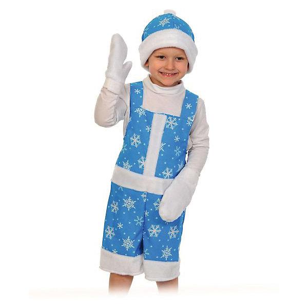 Костюм Новый Годик, ткань-плюш, рост 100-125Карнавальные костюмы для мальчиков<br>Новый годик - это детский карнавальный костюм, обладающий размером XS. Такой костюмчик отлично подойдет для всевозможных новогодних утренников и елок, а также для постановок и представлений. В комплекте имеются даже красивые белые варежки и шапочка, которая отлично подходит костюму по цветовой гамме.<br><br>Ширина мм: 280<br>Глубина мм: 70<br>Высота мм: 250<br>Вес г: 210<br>Возраст от месяцев: 48<br>Возраст до месяцев: 72<br>Пол: Унисекс<br>Возраст: Детский<br>SKU: 7228432