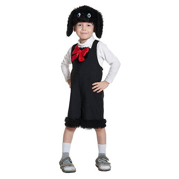 Костюм Пудель, ткань-плюш, рост 92-122 смКарнавальные костюмы для мальчиков<br>Карнавальный костюм Пудель состоит из черного комбинезона, украшенного красным бантом на груди, а также шапочки, сделанной в виде морды собаки. Отличный костюм сможет превратить ребенка в благородного Артемона на время детского праздника. Такой комплект прекрасно подойдет детям ростом от 92 до 122 сантиметров.<br><br>Ширина мм: 270<br>Глубина мм: 50<br>Высота мм: 300<br>Вес г: 360<br>Возраст от месяцев: 36<br>Возраст до месяцев: 60<br>Пол: Мужской<br>Возраст: Детский<br>SKU: 7228436