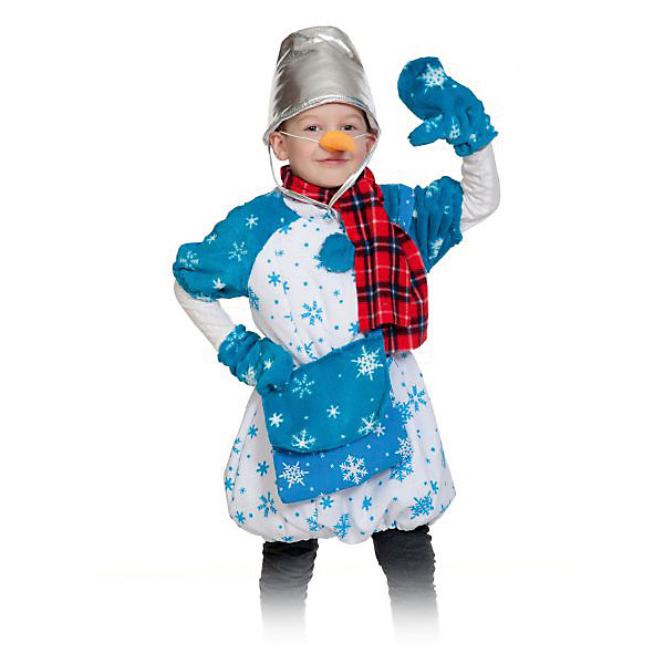 Костюм Снеговик Почтовик, рост 98-128 смКарнавальные костюмы для мальчиков<br>Кто на новогоднем празднике самый веселый и жизнерадостный? Конечно, ваш малыш в костюме снеговика, ведь он спешит все успеть, везде повеселиться и со всеми познакомиться, пока ещё зима. Костюм снеговика детский подойдет как девочкам, так и мальчикам.<br>Ширина мм: 280; Глубина мм: 40; Высота мм: 190; Вес г: 430; Возраст от месяцев: 36; Возраст до месяцев: 60; Пол: Унисекс; Возраст: Детский; SKU: 7228439;