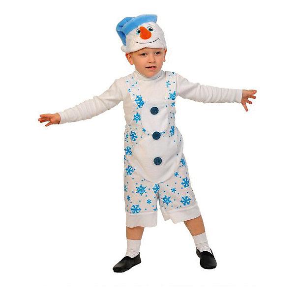 Костюм Снеговичок, ткань-плюш, рост 100-125Карнавальные костюмы для мальчиков<br>Кто на новогоднем празднике самый веселый и жизнерадостный? Конечно, ваш малыш в костюме снеговика, ведь он спешит все успеть, везде повеселиться и со всеми познакомиться, пока ещё зима. Костюм снеговика детский подойдет как девочкам, так и мальчикам.<br>Ширина мм: 290; Глубина мм: 40; Высота мм: 290; Вес г: 160; Возраст от месяцев: 48; Возраст до месяцев: 72; Пол: Унисекс; Возраст: Детский; SKU: 7228440;