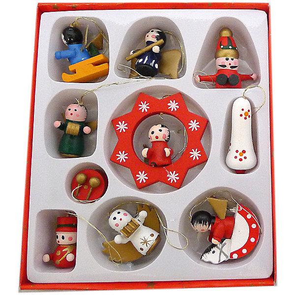 Н-р елочн.укр. 3 см, 10 шт., деревоЁлочные игрушки<br>Характеристики:<br><br>• возраст: 3+;<br>• форма игрушки: новогодние фигурки, снеговик;<br>• материал: дерево;<br>• количество: 10 шт;<br>• размер игрушки: 3 см;<br>• масса: 100 г.<br><br>Декоративные елочные игрушки дополнят коллекцию праздничных украшений. Новогодние фигурки изготовлены из дерева. В набор входят снеговичок, Дед Мороз и другие герои новогодних праздников. Для удобства на каждой фигурке прикреплен специальный шнурок для подвешивания. <br><br>Замечательный набор из елочных игрушек поможет создать неповторимую праздничную атмосферу. Новогодняя елка будет выглядеть очень красиво с украшениями, выполненными в одном стиле.<br><br>Набор елочных украшений, 3 см, 10 шт., дерево, «Новогодняя сказка» можно купить в нашем интернет-магазине.<br>Ширина мм: 100; Глубина мм: 20; Высота мм: 100; Вес г: 100; Возраст от месяцев: 36; Возраст до месяцев: 2147483647; Пол: Унисекс; Возраст: Детский; SKU: 7228454;