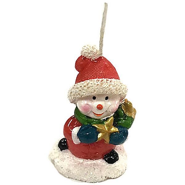 Свеча Снеговик с подарком 6 см, красн.Новогодние свечи и подсвечники<br>Характеристики:<br><br>• возраст: 3+;<br>• форма свечи: снеговик;<br>• материал: парафин;<br>• количество: 1 шт;<br>• размер свечи: 6 см;<br>• масса: 30 г.<br><br>Декоративные новогодние свечи в виде фигурок снеговичка помогут создать атмосферу праздника. Свечи можно использовать в качестве сувенира, а также при декорировании помещения и новогоднего стола.<br><br>Красивый снеговичок красного цвета изготовлен из качественного парафина. Для поджигания есть длинный фитиль.<br><br>Свеча «Снеговик с подарком», 6 см, красный, «Новогодняя сказка» можно купить в нашем интернет-магазине.<br>Ширина мм: 30; Глубина мм: 30; Высота мм: 60; Вес г: 30; Возраст от месяцев: 36; Возраст до месяцев: 2147483647; Пол: Унисекс; Возраст: Детский; SKU: 7228465;