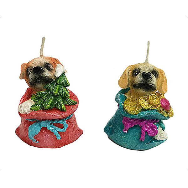 Свеча Собачка в подарке 5 см, в ассорт.Новогодние свечи и подсвечники<br>Характеристики:<br><br>• возраст: 3+;<br>• форма свечи: собачка;<br>• материал: парафин;<br>• количество: 1 шт;<br>• размер свечи: 5 см;<br>• масса: 30 г.<br><br>Декоративные свечи в виде фигурок собачки помогут создать атмосферу праздника. Свечи можно использовать в качестве сувенира для подарков, а также при декорировании помещения и праздничного стола.<br><br>Красивая собачка в подарке изготовлена из качественного парафина. Для поджигания есть длинный фитиль.<br><br>Свеча «Собачка в подарке», 5 см, (в ассортименте), «Новогодняя сказка» можно купить в нашем интернет-магазине.<br><br>Ширина мм: 25<br>Глубина мм: 25<br>Высота мм: 50<br>Вес г: 30<br>Возраст от месяцев: 36<br>Возраст до месяцев: 2147483647<br>Пол: Унисекс<br>Возраст: Детский<br>SKU: 7228467