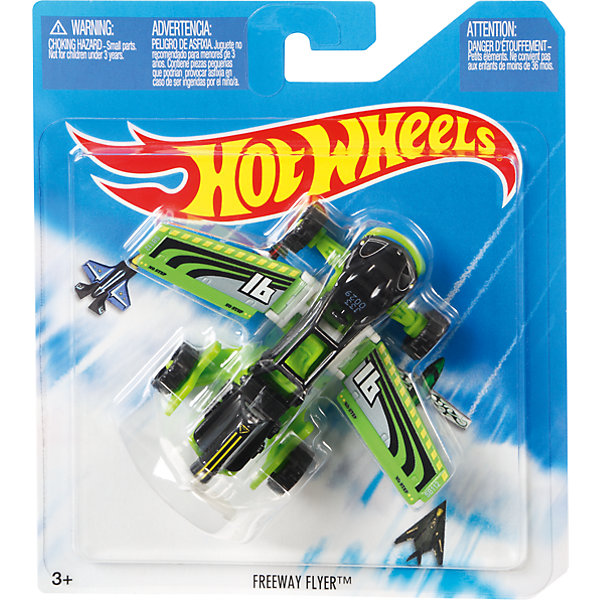 Базовый самолетик Mattel Hot Wheels, Freeway FlyerМашинки<br>Характеристики:<br><br>• возраст: от 4 лет;<br>• тип игрушки:самолет;<br>• цвет: зеленый;<br>• материал: пластик;<br>• размер: 16,5х14х3 см;<br>• вес: 70 гр; <br>• бренд: Hot Wheels;<br>• страна производитель: Китай.<br><br>Самолет, вертолет  Hot Wheels серии Sky Busters – это отличный подарок для мальчиков от 4 лет. Красочная игрушка особенно порадует любителей собирать коллекцию легендарных самолетов и вертолетов. Самолет от компании Mattel поможет ребенку почувствовать себя первоклассным пилотом и покорить небесные просторы.  <br><br>Серия Sky Busters™ включает реалистичные, тщательно проработанные самолеты и вертолеты, точь-в-точь похожие на настоящие. Достаточно крупные модели помогут маленькому авиаконструктору рассмотреть каждую деталь модели и понять, каким образом он смоделирован.<br><br>Кроме того, игрушка выполнена из безвредных для детей материалов. Такой вертолет можно использовать вместе с другими игрушками серии, создавая одну большую платформу для игры. Также Hot Wheels  отлично подходят для того, чтобы взять их с собой. <br><br>Самолет, вертолет  Hot Wheels  можно купить в нашем интернет-магазине.<br><br>Ширина мм: 165<br>Глубина мм: 140<br>Высота мм: 30<br>Вес г: 70<br>Возраст от месяцев: 48<br>Возраст до месяцев: 96<br>Пол: Мужской<br>Возраст: Детский<br>SKU: 7229168