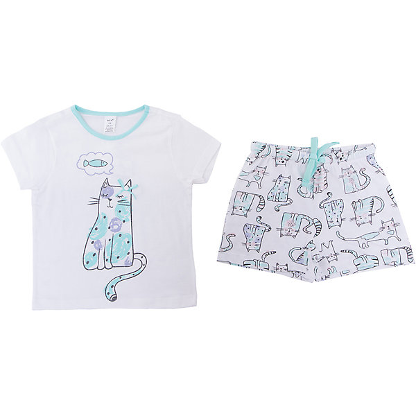 Пижама SELA для девочкиПижамы и сорочки<br>Характеристики товара:<br><br>• цвет: белый<br>• комплектация: футболка и шорты<br>• состав ткани: 100% хлопок<br>• сезон: круглый год<br>• пояс: резинка <br>• короткие рукава<br>• страна бренда: Россия<br>• страна производства: Индия<br><br>Такой комплект состоит из футболки и шорт. Удобная пижама для девочки от Sela поможет обеспечить ребенку комфорт. Такая детская пижама отличается стильным дизайном. Хлопковая пижама сделана из качественного натурального материала. <br><br>Пижаму Sela (Села) для девочки можно купить в нашем интернет- магазине.<br><br>Ширина мм: 281<br>Глубина мм: 70<br>Высота мм: 188<br>Вес г: 295<br>Цвет: белый<br>Возраст от месяцев: 24<br>Возраст до месяцев: 36<br>Пол: Женский<br>Возраст: Детский<br>Размер: 92/98,104/110,116/122,128/134,140/146<br>SKU: 7229915