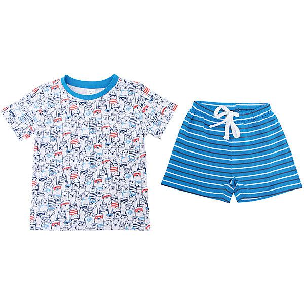Пижама SELA для мальчикаПижамы и сорочки<br>Характеристики товара:<br><br>• цвет: белый<br>• комплектация: футболка и шорты<br>• состав ткани: 100% хлопок<br>• сезон: круглый год<br>• пояс: резинка, шнурок<br>• короткие рукава<br>• страна бренда: Россия<br>• страна производства: Индия<br><br>Пижамный комплект состоит из футболки и шорт. Удобная пижама для мальчика от Sela поможет обеспечить ребенку комфорт. Такая детская пижама отличается стильным дизайном. Хлопковая пижама сделана из качественного натурального материала. <br><br>Пижаму Sela (Села) для мальчика можно купить в нашем интернет- магазине.<br><br>Ширина мм: 281<br>Глубина мм: 70<br>Высота мм: 188<br>Вес г: 295<br>Цвет: белый<br>Возраст от месяцев: 24<br>Возраст до месяцев: 36<br>Пол: Мужской<br>Возраст: Детский<br>Размер: 92/98,104/110,116/122<br>SKU: 7229945