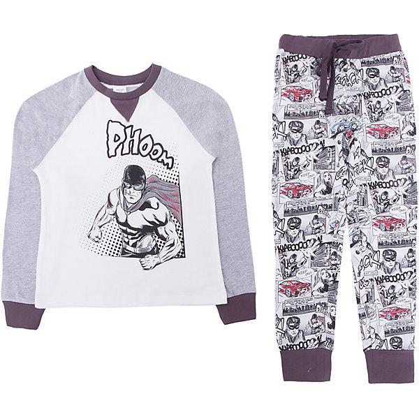 Пижама SELA для мальчикаПижамы и сорочки<br>Характеристики товара:<br><br>• цвет: серый<br>• комплектация: лонгслив и брюки<br>• состав ткани: 100% хлопок<br>• сезон: круглый год<br>• пояс: резинка <br>• короткие рукава<br>• страна бренда: Россия<br>• страна производства: Индия<br><br>Подарить ребенку комфорт во сне поможет такой пижамный комплект. Удобная пижама для мальчика от Sela состоит из лонгслива и брюк. Такая детская пижама отличается мягкими швами. Хлопковая пижама сделана из качественного натурального материала. <br><br>Пижаму Sela (Села) для мальчика можно купить в нашем интернет- магазине.<br><br>Ширина мм: 281<br>Глубина мм: 70<br>Высота мм: 188<br>Вес г: 295<br>Цвет: серый<br>Возраст от месяцев: 24<br>Возраст до месяцев: 36<br>Пол: Мужской<br>Возраст: Детский<br>Размер: 92/98,104/110,116/122,128/134<br>SKU: 7229953