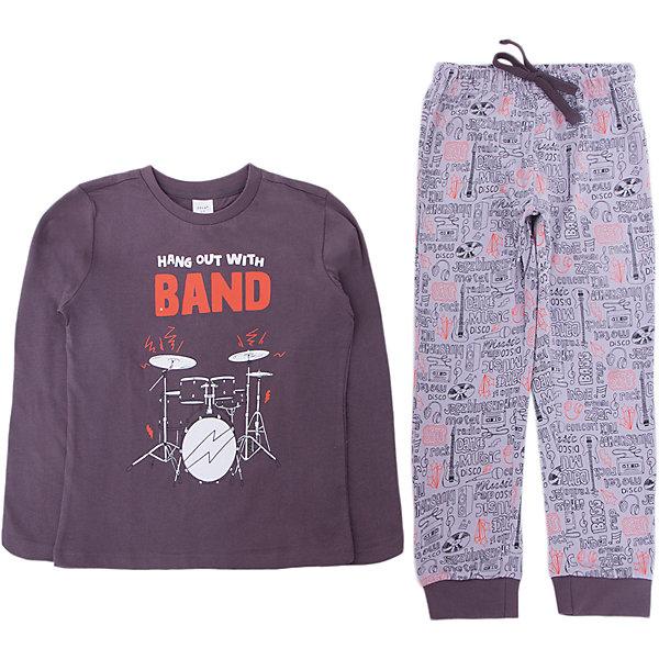 Пижама SELA для мальчикаПижамы и сорочки<br>Характеристики товара:<br><br>• цвет: серый<br>• комплектация: лонгслив и брюки<br>• состав ткани: 100% хлопок<br>• сезон: круглый год<br>• пояс: резинка, шнурок<br>• короткие рукава<br>• страна бренда: Россия<br>• страна производства: Индия<br><br> Такая детская пижама отличается продуманным дизайном. Пижамный комплект состоит из лонгслива и брюк. Удобная пижама для мальчика от Sela поможет обеспечить ребенку комфорт. Хлопковая пижама сделана из качественного натурального материала. <br><br>Пижаму Sela (Села) для мальчика можно купить в нашем интернет- магазине.<br><br>Ширина мм: 281<br>Глубина мм: 70<br>Высота мм: 188<br>Вес г: 295<br>Цвет: серый<br>Возраст от месяцев: 48<br>Возраст до месяцев: 60<br>Пол: Мужской<br>Возраст: Детский<br>Размер: 104/110,92/98,128/134,116/122<br>SKU: 7229958