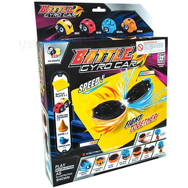 Набор из 4-х машинок с гироскопом CrashМашинки<br>Игровой набор Battle Gyro Car от производителя Gyro Flash привлечет внимание ребенка возможностью устраивать неповторимые гонки, используя оригинальные машинки. Мальчик будет увлечен игрой, с радостью и удивлением наблюдая за трюками, которые выполняют игрушечные машинки-жучки на арене. Каждый из симпатичных жучков оснащен небольшим стержнем, который позволят игрушке крутиться на спине, как юла.<br><br>Ширина мм: 330<br>Глубина мм: 260<br>Высота мм: 50<br>Вес г: 250<br>Возраст от месяцев: 36<br>Возраст до месяцев: 2147483647<br>Пол: Мужской<br>Возраст: Детский<br>SKU: 7230455