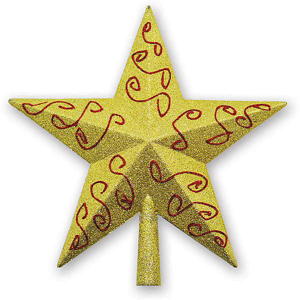 Верхушка на елку B&amp;H Звезда 24 см, золотаяЁлочные игрушки<br>Характеристики товара:<br><br>• возраст: от 3 лет;<br>• упаковка: пакет;<br>• вес: 40 гр.;<br>• количество: 1 шт.;<br>• цвет: золотой;<br>• высота: 24 см.;<br>• форма: звезда;<br>• материал: пластик;<br>• бренд, страна бренда: B&amp;H;<br>• страна-производитель: Китай.<br><br>Верхушка на елку «Звезда» от торговой марки B&amp;H - елочное украшение, без которого не может обойтись ни одна зеленая красавица. Украшение выполненно из качественного платика и с помощью специальной насадки одевается на праздничную новогоднюю елку.<br><br>Верхушка на елку «Звезда» золотого цвета с красным узором, упакована в прочный пакет, отлично подойдет в качестве хорошего новогоднего сувенира родным и близким.<br><br>Елочная игрушка - символ Нового года и Рождества. Она несет в себе волшебство и красоту праздника. Создайте в своем доме атмосферу веселья и радости, украшая новогоднюю елку нарядными игрушками, которые будут из года в год накапливать теплоту воспоминаний.<br><br>Верхушку на елку «Звезда» , 1 шт, высота 24 см., B&amp;H можно купить в нашем интернет-магазине.<br>Ширина мм: 30; Глубина мм: 260; Высота мм: 260; Вес г: 41; Возраст от месяцев: 36; Возраст до месяцев: 2147483647; Пол: Унисекс; Возраст: Детский; SKU: 7230481;