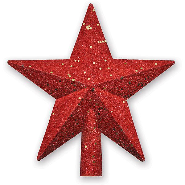 Верхушка на елку B&amp;H Звезда 20 см, краснаяЁлочные игрушки<br>Высота 20 см.<br>Материал: пластик.<br><br>Ширина мм: 30<br>Глубина мм: 220<br>Высота мм: 220<br>Вес г: 20<br>Возраст от месяцев: 36<br>Возраст до месяцев: 2147483647<br>Пол: Унисекс<br>Возраст: Детский<br>SKU: 7230482