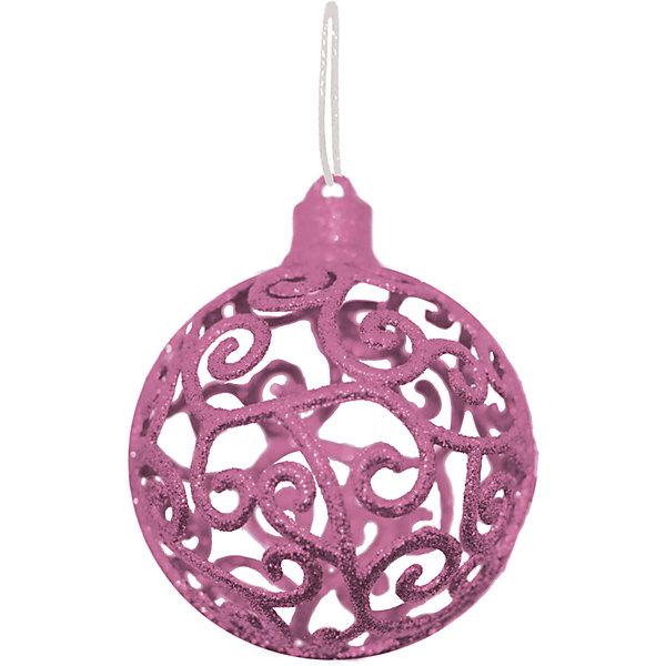 Объемное украшение на елку B&amp;H Шар 8 см, нежно-розовыйЁлочные игрушки<br>Характеристики товара:<br><br>• возраст: от 3 лет;<br>• упаковка: пакет;<br>• вес: 26 гр.;<br>• количество: 1 шт.;<br>• цвет: нежно-розовый;<br>• диаметр: 8 см.;<br>• форма: объемная, шар;<br>• материал: пластик;<br>• бренд, страна бренда: B&amp;H;<br>• страна-производитель: Китай.<br><br>Подвеска объемная «Шар» от торговой марки B&amp;H - оригинальное елочное украшение поможет нарядить и сделать сказочно красивой новогоднюю елку или декор вашего дома. <br><br>Подвеска объемная «Шар» выполнена из пластика высокого качества, в форме объемной шара с узорами нежно-розового цвета и покрытием из декоративных блесток. С помощью специальной петельки украшение можно повесить  на праздничную новогоднюю елку.<br><br>Елочная игрушка - символ Нового года и Рождества. Она несет в себе волшебство и красоту праздника. Создайте в своем доме атмосферу веселья и радости, украшая новогоднюю елку нарядными игрушками, которые будут из года в год накапливать теплоту воспоминаний. <br><br>Подвеску объемную «Шар», нежно-розовый с глиттером, 8 см., B&amp;H можно купить в нашем интернет-магазине.<br>Ширина мм: 90; Глубина мм: 90; Высота мм: 90; Вес г: 26; Возраст от месяцев: 36; Возраст до месяцев: 2147483647; Пол: Унисекс; Возраст: Детский; SKU: 7230500;