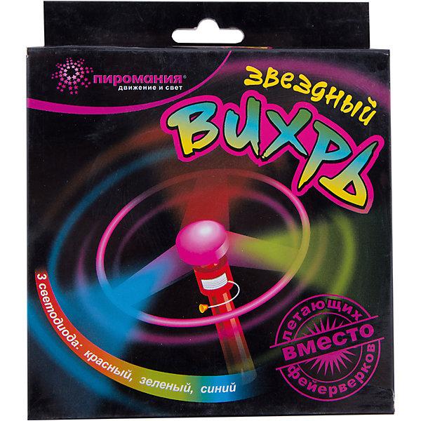 Звездный вихрь Partymania с пусковым устройствомАксессуары для детского праздника<br>Характеристики товара:<br><br>• возраст: от 3 лет;<br>• упаковка: картонная коробка;<br>• тип лампочек: светодиоды;<br>• цвет лампочек: красный, зеленый, синий;<br>• размер упаковки: 15х15х4 см.;<br>• количество: 1 шт;<br>• материал: пластик;<br>• бренд, страна бренда: Partymania;<br>• страна-производитель: Китай.<br><br>Летающий диск «Звездный вихрь» от торговой марки Partymania - это яркий, летающий диск, который взлетает на высоту до 10 м. <br><br>Три разноцветных светодиода (красный, зеленый и синий) создают красочный световой эффект во время полета, поэтому для наибольшего эффекта изделие лучше всего запускать вечером. В комплекте: диск со светодиодами , пусковое устройство, 3 демонстрационные батарейки.<br><br>Летающий диск «Звездный вихрь» очень прост в использовании и поможет доставить массу выселых моментов вам  и вашим детям. Отличное развлечение для детских праздников.<br><br>Летающий диск «Звездный вихрь», 1 шт., Partymania  можно купить в нашем интернет-магазине.<br>Ширина мм: 150; Глубина мм: 150; Высота мм: 40; Вес г: 71; Возраст от месяцев: 36; Возраст до месяцев: 2147483647; Пол: Унисекс; Возраст: Детский; SKU: 7230508;