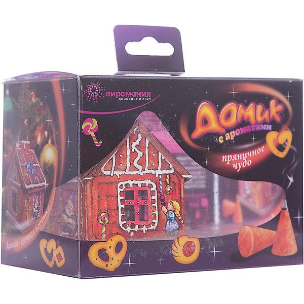 Ароматический набор Partymania Домик с ароматамиНовогодние свечи и подсвечники<br>Характеристики товара:<br><br>• возраст: от 3 лет;<br>• упаковка: картонная коробка;<br>• размер упаковки: 9х12,5х8 см.;<br>• количество в упаковке: 1 шт;<br>• состав: парафин;<br>• цвет: в ассортименте;<br>• бренд, страна бренда:  Partymania;<br>• страна-производитель: Китай.<br><br>Домик с ароматами от торговой марки  Partymania - представляет собой изделие развлекательного характера, используется для создания ароматной атмосферы, дарит эфирную энергию, наполняя воздух силой жизни. <br><br>Домик с ароматами поможет украсить помещение и создать праздничное настроение благодаря чудесному аромату. Нарядный картонный домик можно использовать как декоративный элемент, а можно подвесить на новогоднюю елку, как игрушку. <br><br>В набор входит картонный домик с плотным основанием и восемь ароматических конусов (ароматы - пряничное чудо, ванильные мечты, ягодный пунш). Такой ароматный домик может стать приятным новогодним сувениром для друзей и знакомых.<br><br>Домик с ароматами от Partymania можно купить в нашем интернет-магазине.<br><br>Ширина мм: 125<br>Глубина мм: 90<br>Высота мм: 80<br>Вес г: 120<br>Возраст от месяцев: 36<br>Возраст до месяцев: 2147483647<br>Пол: Унисекс<br>Возраст: Детский<br>SKU: 7230519