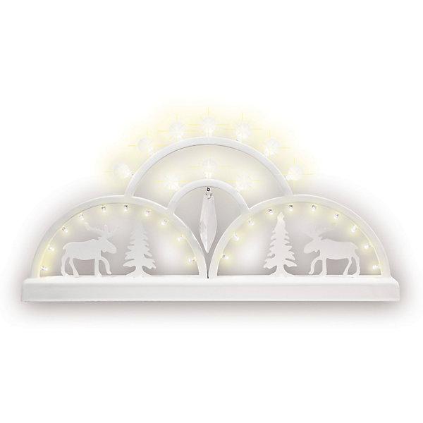 Светодиодная фигурка B&amp;H 4 дуги, 30 LEDНовогодние световые фигуры<br>Характеристики товара:<br><br>• возраст: от 3 лет;<br>• упаковка: картонная коробка;<br>• размер упаковки: 23х51,5х6,5;<br>• вес: 1,3 кг.;<br>• тип лампочек: светодиоды;<br>• количество лампочек: 30;<br>• цвет свечения: холодный белый;<br>• состав: пластик, металл;<br>• бренд, страна изготовления: B&amp;H, Китай.<br><br>Светодиодное украшение «Горка» от торговой марки B&amp;H - оригинальное украшение в форме горки с 4-мя дугами и светодиодами холодного белого цвета внутри. Белый свет горки станет отличным украшением на окне или на любой другой поверхности вашего дома. <br><br>Украшение изготовлено из пластика высокого качества. Тип питания - от сети, длина сетевого шнура - 1,5 м. Применяется для украшения помещений, окон, витрин и других объектов, используется внутри помещений. <br><br>Светодиодное украшение «Горка»подарит уют и новогоднюю атмосферу вашему дому и станет прекрасным элементом декора. Отлично подойдет в качестве хорошего сувенира для друзей и близких.<br><br>Светодиодное украшение «Горка», 4 дуги, B&amp;H  можно купить в нашем интернет-магазине.<br>Ширина мм: 65; Глубина мм: 515; Высота мм: 235; Вес г: 1320; Возраст от месяцев: 36; Возраст до месяцев: 2147483647; Пол: Унисекс; Возраст: Детский; SKU: 7230546;
