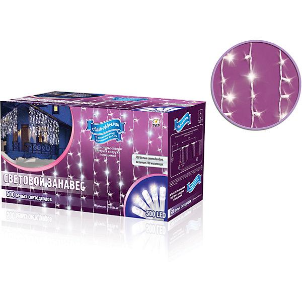 Новогодняя электрогирлянда B&amp;H Световой занавес 500 белых светодиодовНовогодние электрогирлянды<br>Характеристики товара:<br><br>• возраст: от 3 лет;<br>• упаковка: картонная коробка;<br>• вес: 1,3 кг.;<br>• тип ламп: светодиоды.;<br>• количество ламп: 500 шт.;<br>• цвет свечения: белый/мигающий белый;<br>• размер электрогирлянды: 2,4х1,5 м.;<br>• длина сетевого шнура: 1,5 м.;<br>• размер упаковки: 30x12x15 см;<br>• материал: пластик;<br>• бренд, страна бренда: B&amp;H;<br>• страна-производитель: Китай.<br><br>Электрогирлянда «Световой занавес» представляет собой основной гибкий провод, на котором расположены 500 белых светодиодов, включая 100 мигающих белых (с эффектом flash).  Занавес фиксируется с помощью специальных крючков на основном проводе.  Имеет возможность удлинения до 12 м (до 5 модулей).<br><br>Электрогирлянда «Световой занавес» позволяет создавать яркое и привлекающее внимание оформление витрин, помещений, елей, деревьев и других объектов. Используется внутри и снаружи помещений.<br><br>Электрогирлянда торговой марки B&amp;H позволит создать атмосферу праздника в вашем доме, а также подарит отличное настроение вашим друзьям и близким.<br><br>Электрогирлянду «Световой занавес», 2,4х1,5 м., 500 белых светодиодов, B&amp;H можно купить в нашем интернет-магазине.<br><br>Ширина мм: 300<br>Глубина мм: 120<br>Высота мм: 150<br>Вес г: 1306<br>Возраст от месяцев: 36<br>Возраст до месяцев: 2147483647<br>Пол: Унисекс<br>Возраст: Детский<br>SKU: 7230553