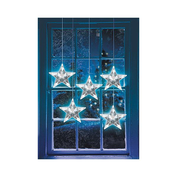 Новогодняя электрогирлянда GLOS Звезды Кецун 12,5 мНовогодние электрогирлянды<br>Характеристики товара:<br><br>• возраст: от 3 лет;<br>• упаковка: картонная коробка;<br>• вес: 430 гр.;<br>• тип ламп: светодиоды;<br>• количество ламп: 25 шт.;<br>• цвет свечения: белый;<br>• длина электрогирлянды: 2,5 м;<br>• размер упаковки: 17x16,5x16,5 см;<br>• материал: пластик;<br>• бренд, страна бренда: B&amp;H;<br>• страна-производитель: Китай.<br><br>Электрогирлянда «Светодиодные звезды Кецун» представляет собой гибкий провод длиной 2,5 м.,  на котором расположены 5 нитей с крупными яркие светодиодами в форме звезд.  Оснащена режимом почтоянного горения.<br><br>В каждой звезде по 5 светодиодов,  всего 25LED, имеет возможность последовательного соединения. Наличие специальных коннектов на основном шнуре гирлянды позволяет удлинить ее до 12,5 метров (до 5 гирлянд).<br><br>Светодиодная нить - яркая и долговечная, имеет маленькое энергопотребление, позволяет создавать яркое и привлекающее внимание оформление витрин, помещений, елей, деревьев и других объектов. Используются внутри и снаружи помещений.<br><br>Электрогирлянда торговой марки B&amp;H позволит создать атмосферу праздника в вашем доме, а также подарит отличное настроение вашим друзьям и близким.<br><br>Электрогирлянду «Светодиодные звезды Кецун», 2,5 м., 25 белых светодиодов, B&amp;H можно купить в нашем интернет-магазине.<br>Ширина мм: 168; Глубина мм: 165; Высота мм: 165; Вес г: 426; Возраст от месяцев: 36; Возраст до месяцев: 2147483647; Пол: Унисекс; Возраст: Детский; SKU: 7230554;