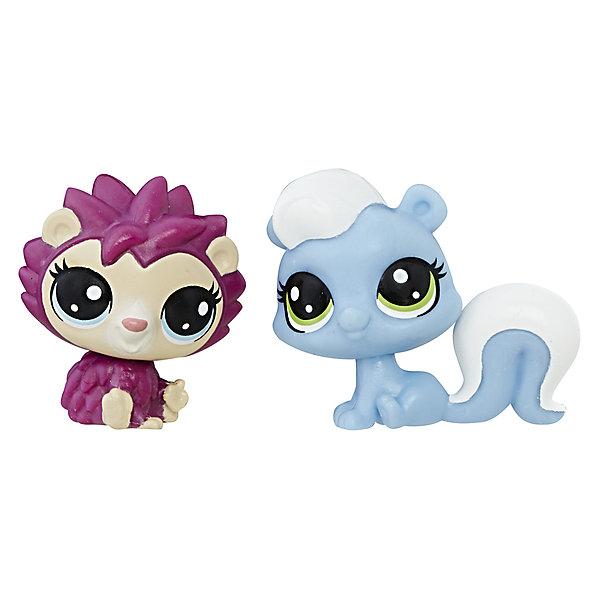 Купить Набор из двух фигурок Littlest Pet Shop Ёжик и скунс, Hasbro, Китай, Женский