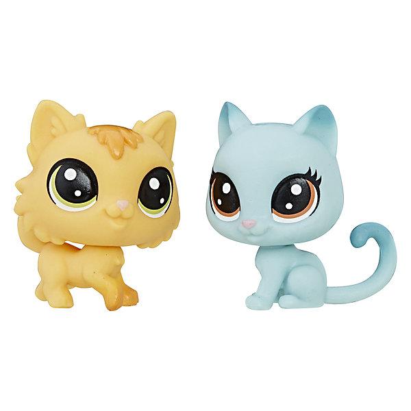 Купить Набор из двух фигурок Littlest Pet Shop Рыжая и голубая кошечки, Hasbro, Китай, Женский