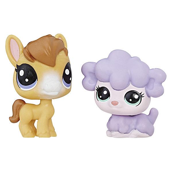 Купить Набор из двух фигурок Littlest Pet Shop Лошадка Дрю Макхуф и Овечка Кимми Лэмбтон, Hasbro, Китай, Женский