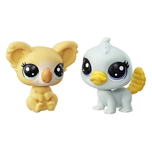 Купить Набор из двух фигурок Littlest Pet Shop Коала Ками Коалапуф и утконос Пэмми Платифут, Hasbro, Китай, Женский
