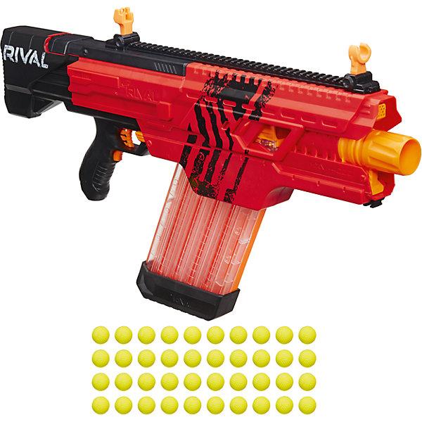 Бластер Nerf Райвал Хаос, красныйИгрушечные пистолеты и бластеры<br>Характеристики:<br><br>• возраст: от 14 лет;<br>• материал: пластик;<br>• в наборе: бластер, магазин, 40 зарядов;<br>• тип батареек: 6хD;<br>• наличие батареек: не в комплекте;<br>• вес упаковки: 5,6 кг.;<br>• размер упаковки: 37х16х77 см;<br>• страна бренда: США.<br><br>Бластер Nerf «Райвал Хаос» от Hasbro выводит нёрфера на новый игровой уровень. Бластер полностью автоматический, имеет предельную точность, а скорость выстрела достигает 30 метров в секунду. Все 40 зарядов в форме шариков помещаются в магазин за один раз. Яркие желтые шарики легко найти после выстрела.<br><br>Игрушка имеет оригинальный дизайн, выполнена в красном цвете. Несколько бластеров «Райвал Хаос» в одном цвете выделят команду игроков среди их соперников. Сделано из качественных прочных материалов.<br><br>Бластер «Нёрф Райвал Хаос» можно купить в нашем интернет-магазине.<br>Ширина мм: 79; Глубина мм: 762; Высота мм: 356; Вес г: 2819; Возраст от месяцев: 84; Возраст до месяцев: 2147483647; Пол: Мужской; Возраст: Детский; SKU: 7230778;
